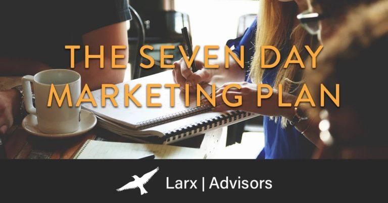 blog image - seven-day marketing plan