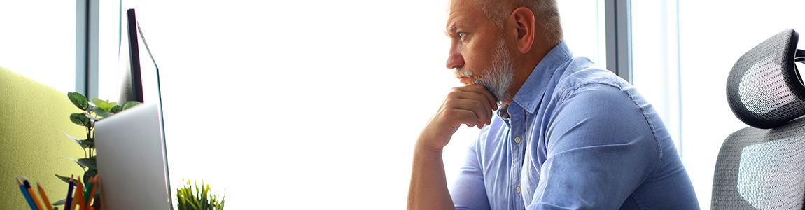 blog header - man posing as if he's thinking